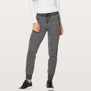 """Lululemon Get Going Joggers Light French Terry Cotton 28.5"""" Heathered Core Gray"""